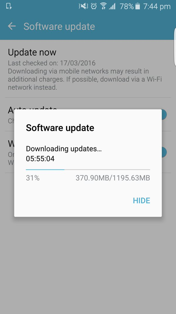 Galaxy s6 cập nhật Android 6.0 Marshmallow