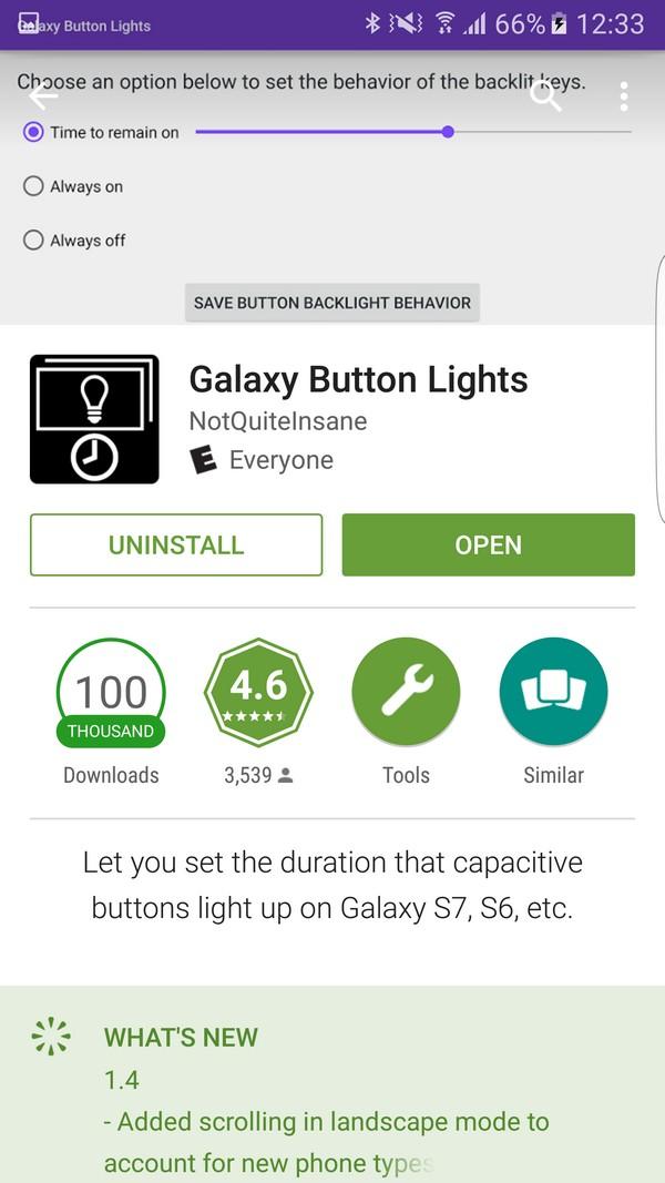 Cách tắt đèn phím chức năng trên Galaxy S7 và S7 Edge
