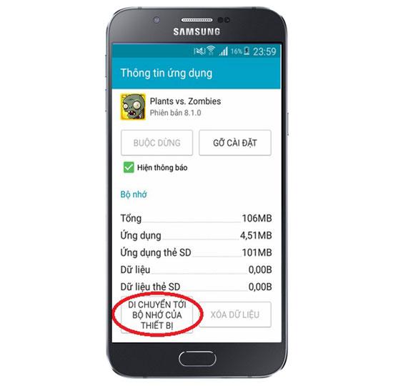 Khắc phục lỗi đầy bộ nhớ trên điện thoại Android