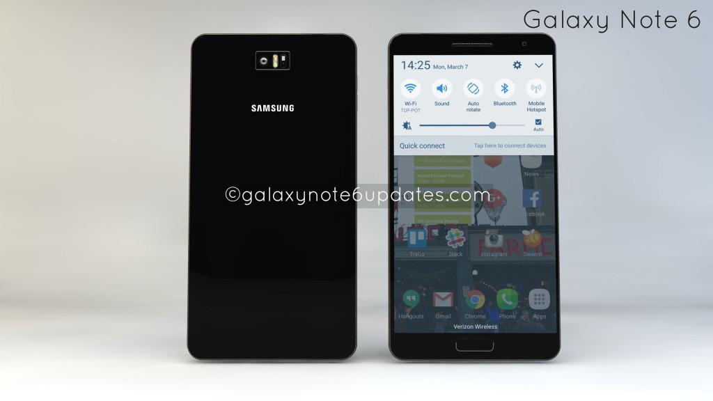 Bản concept Samsung Galaxy Note 6 có vài thay đổi thú vị