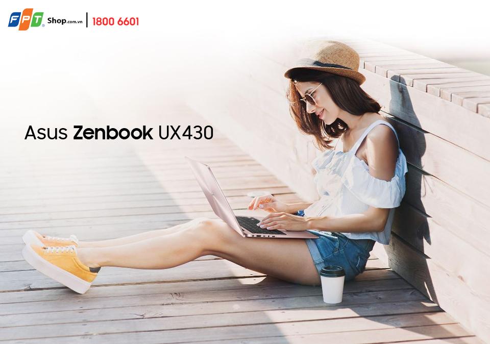ZenBook UX430 sở hữu cấu hình ấn tượng với core i5-7200U, RAM 4GB, ổ cứng SSD 256GB