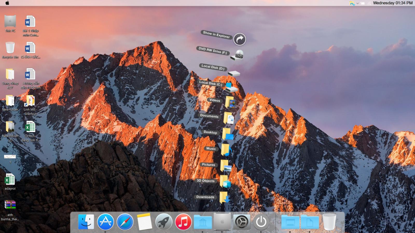 Biến Windows 10 thành macOS X chỉ với 1 click chuột