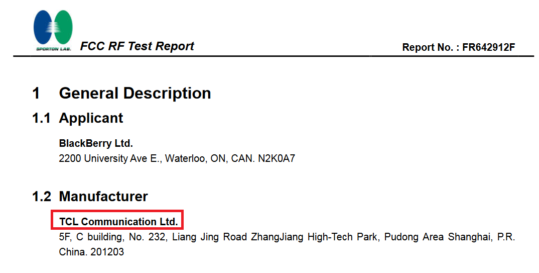 Blackberry Hamburg lộ cấu hình chi tiết trên FCC
