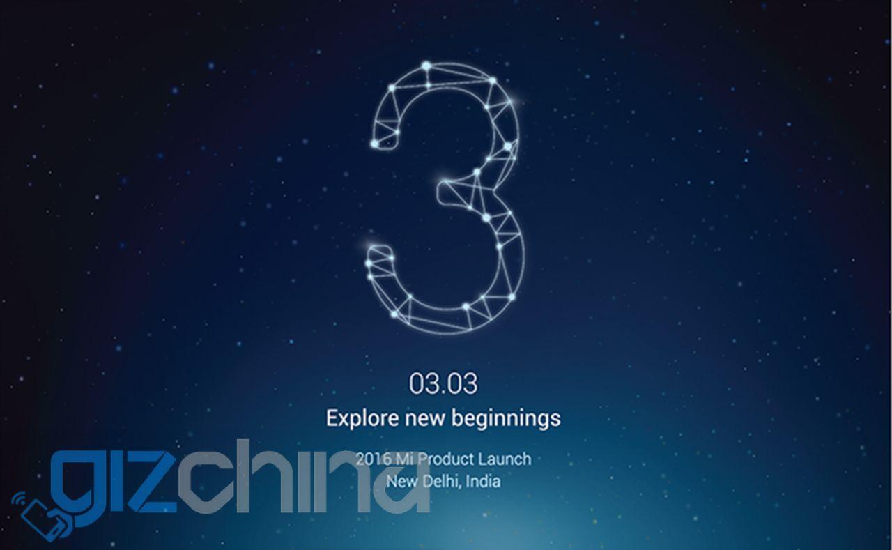 Xiaomi tổ chức sự kiện 03/03 tại Ấn Độ