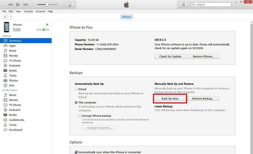 Hướng dẫn sao lưu dữ liệu trên iPhone trước khi lên iOS 10