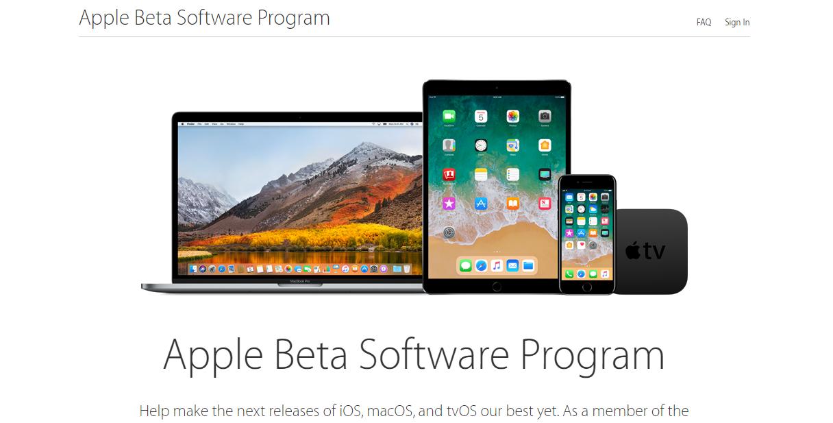 Bước 1: Đăng kí chương trình Apple Beta Sorftware Program