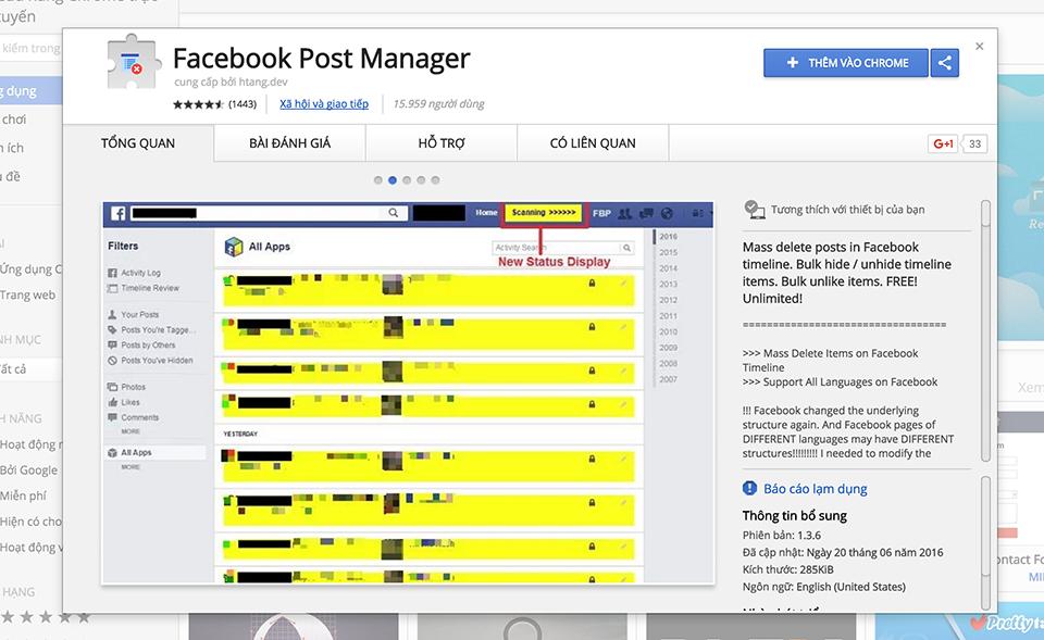 Xoá status, hình ảnh, video hàng loạt trên Facebook