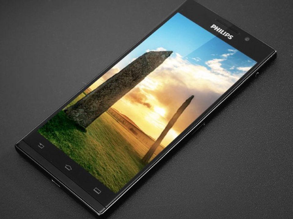 Philips lộ ảnh smartphone khủng có cảm biến vân tay