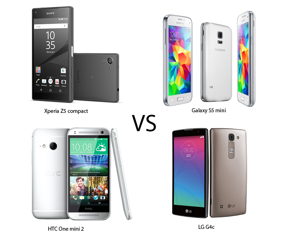 Xperia Z5 Compact vs Galaxy s5 mini vs HTC One mini 2 vs LG G4c