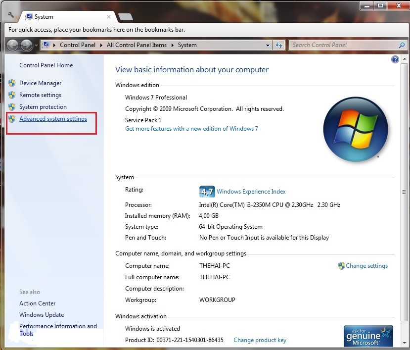 2 - Sửa Lỗi Has Stopped Working Trong Windows 7