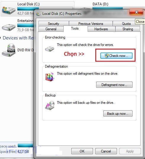 cho - Sửa Lỗi Has Stopped Working Trong Windows 7
