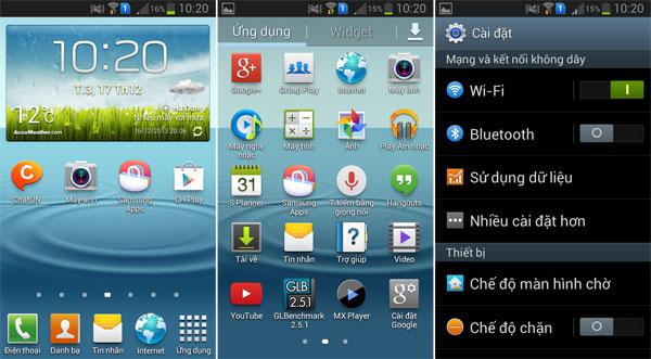 Giao diện đẹp mắt của Samsung Galaxy Trend S7560
