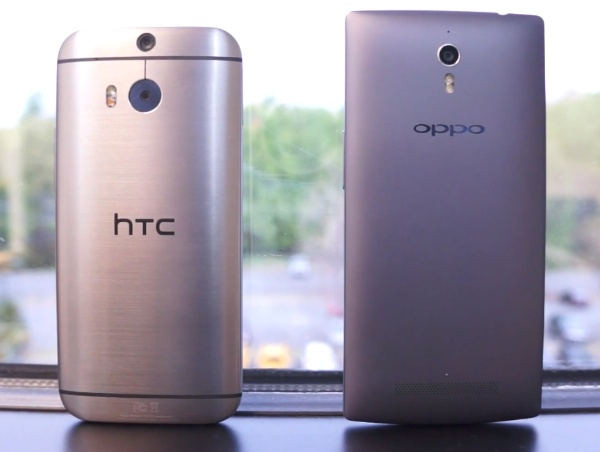HTC One M8 với Oppo Find 7A