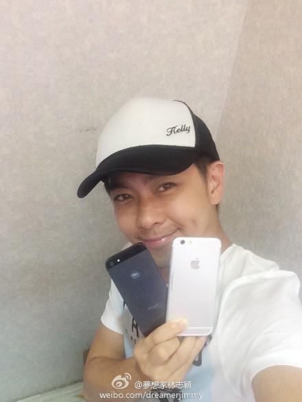 iPhone 6 xuất hiện bên Lâm Chí Dĩnh