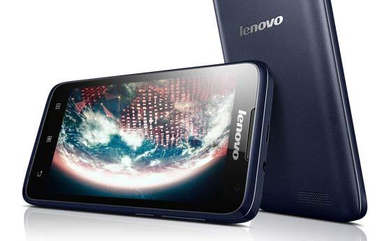 Lenovo A526 Aurora Blue thiet ke