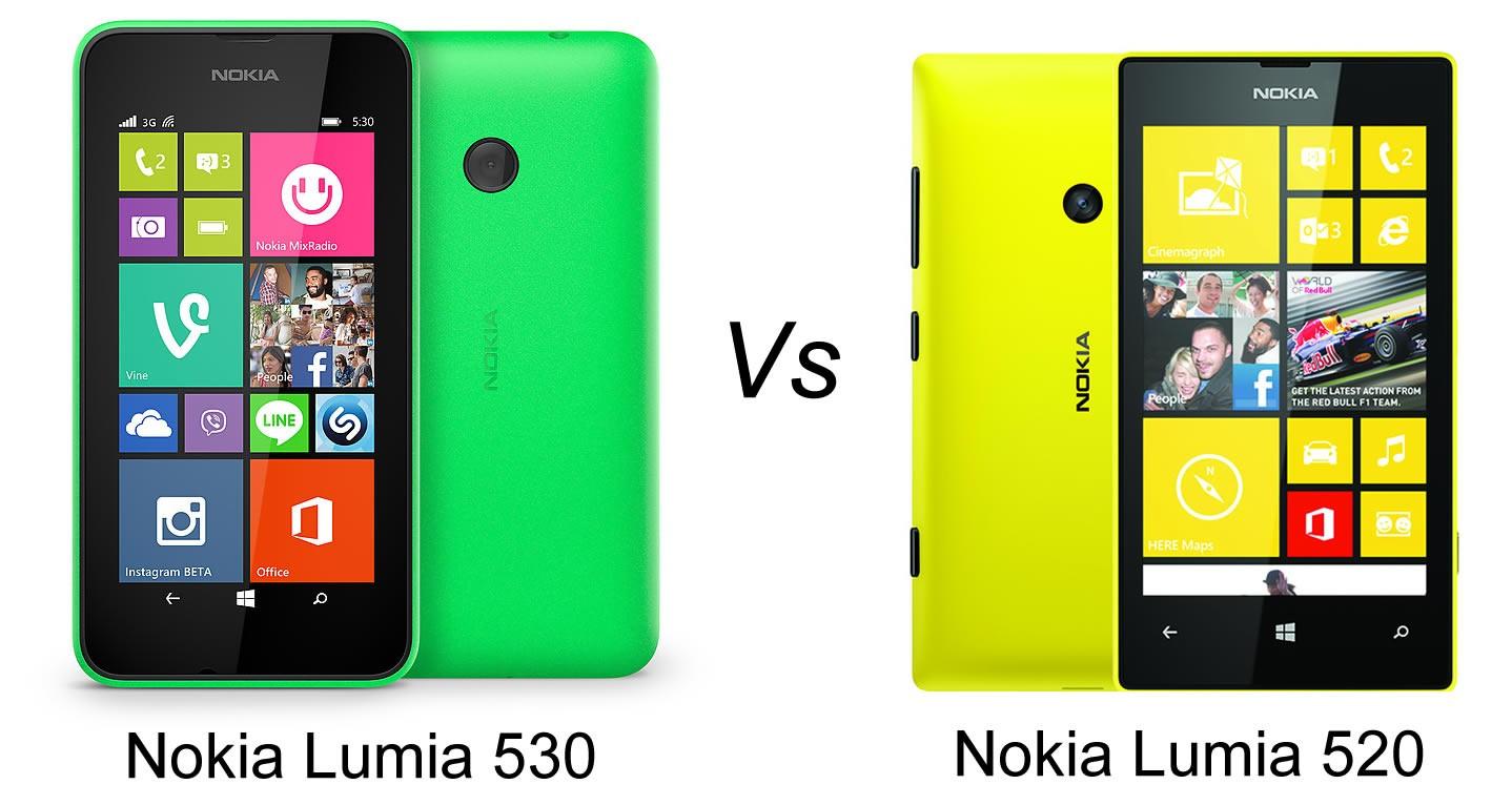 lumia 530 vs Lumia 520