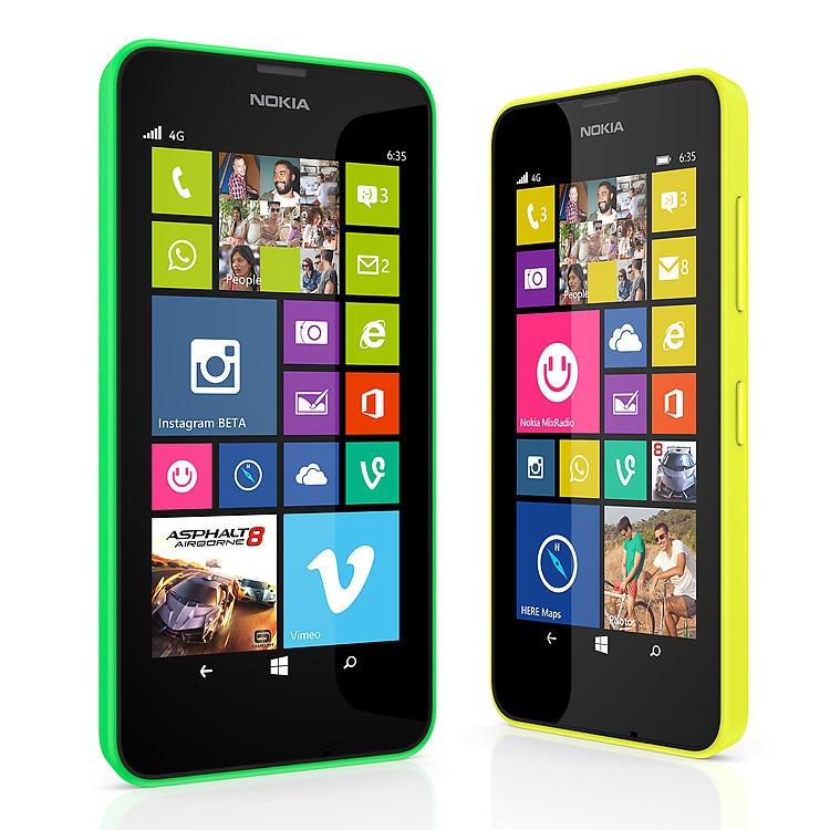 Lumia 630 và Lumia 635 được trình làng