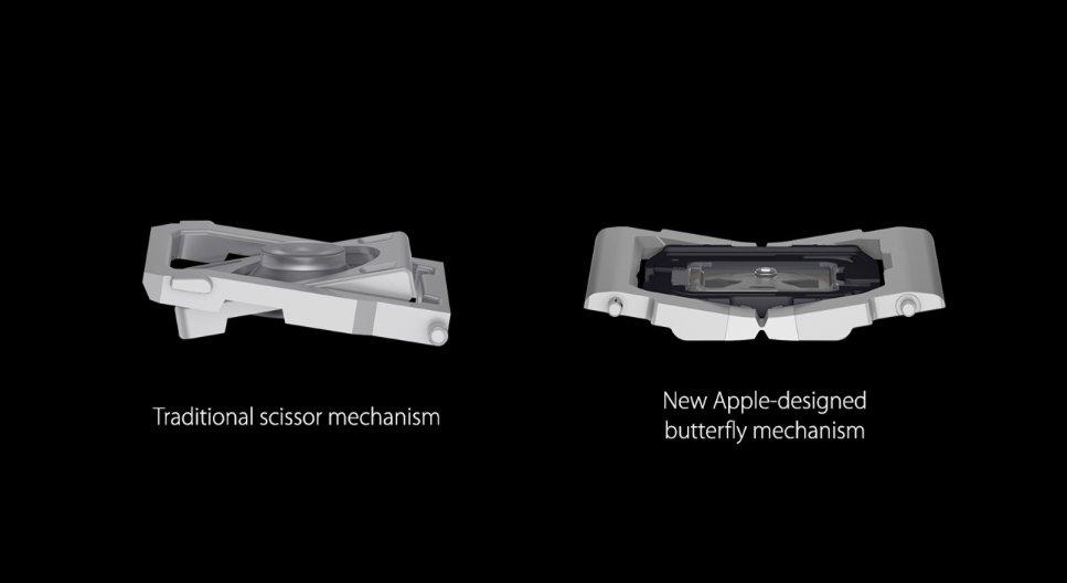 Cấu trúc của 2 cơ chế bàn phím Macbook 12 inch