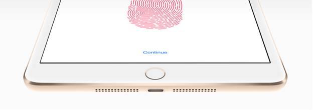 Cảm biến vân tay Touch ID vượt trội của iPad Mini 3