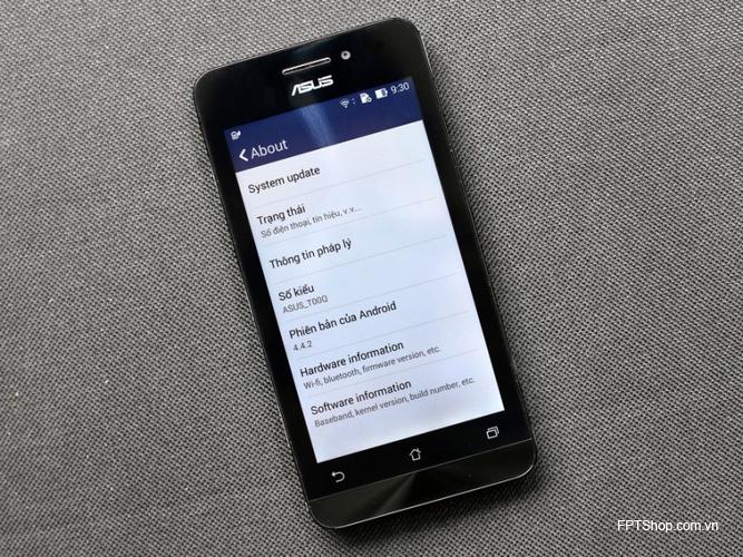 Asus Zenfone A450  có màn hình 4,5 inch, lớn hơn phiên bản tiền nhiệm