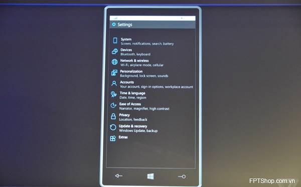 Tính năng của Windows 10
