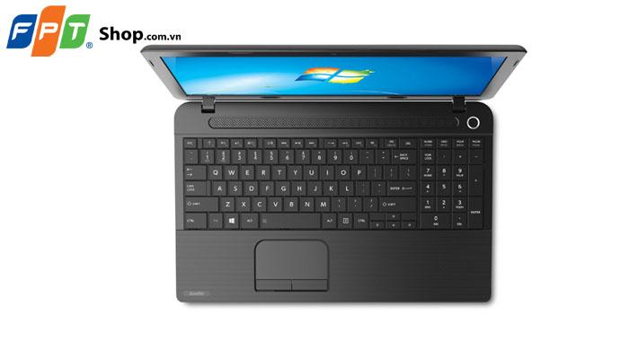 Chiếc laptop Toshiba C50-B2023 sử dụng một bàn phím có thiết kế hợp lý