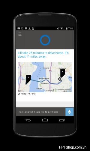 Trợ lý ảo Cortana sử dụng trên hệ điều hành khác