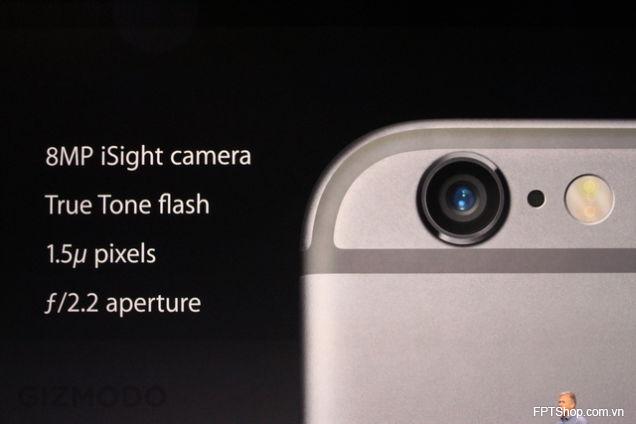 Apple iPhone 6 có camera chính 8MP, camera phụ 1,2MP