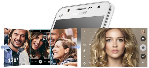 Camera với đèn flash LED là điểm đáng chú ý nhất trên Galaxy J5 và J7