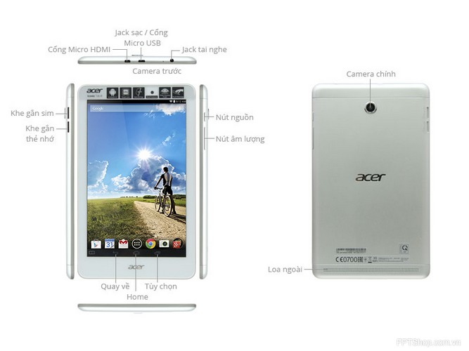 Thiết kế Acer A1-841