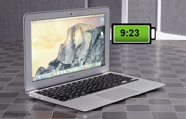 MacBook Air 11-inch (2015)- 9 giờ 23 phút