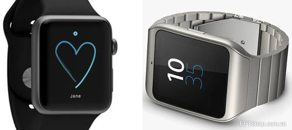 Thiet ke Sony SmartWatch 3 với Apple Watch