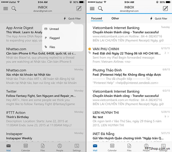 Ứng dụng Outlook