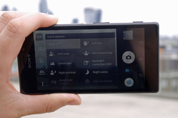 ứng dụng camera Sony Xperia M2