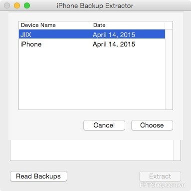 iPhone Backup Extractor