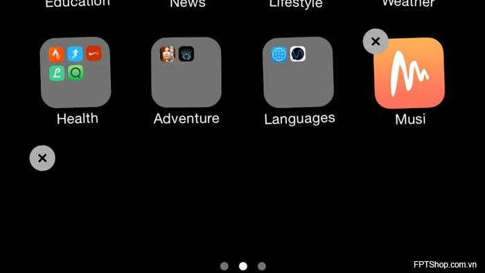 Cách sắp xếp các icon trống trên màn hình Home