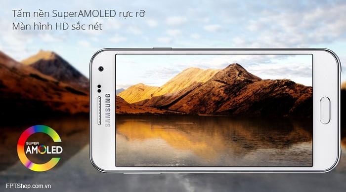 Samsung Galaxy E5 có màn hình Super AMOLED 5 inch