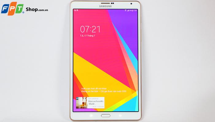 Galaxy Tab S 8.4 được hỗ trợ đầy đủ các cổng kết nối và cổng giao tiếp