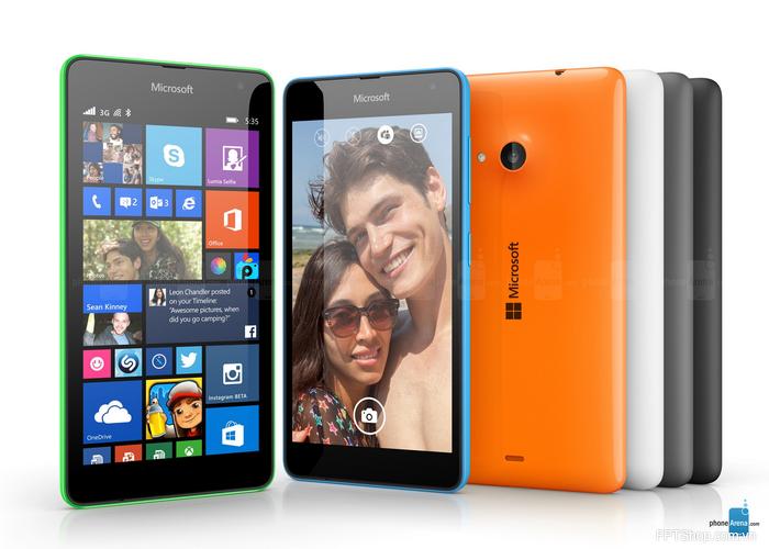 Microsoft Lumia 535 sở hữu màn hình hiển thị 5 inch độ nét cao