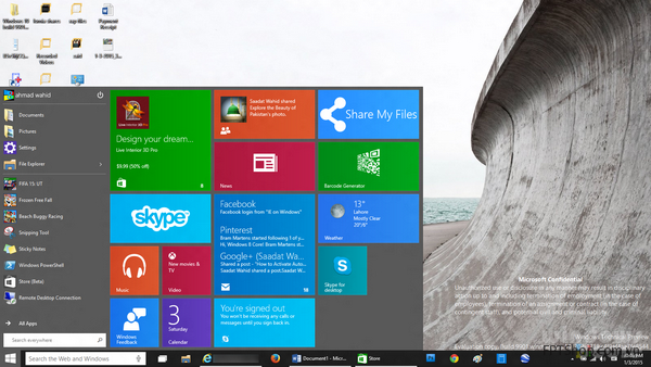 Giao dien Windows 10