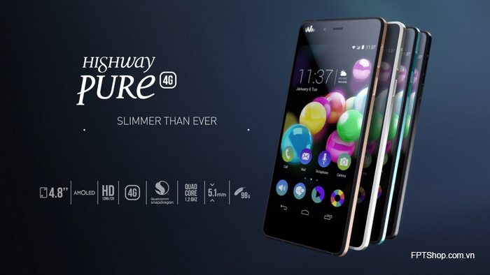 điện thoại tầm trung Wiko Highway Pure