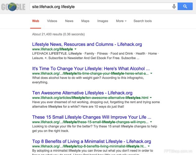 Sử dụng chức năng tìm kiếm trang web: tìm kiếm mọi tên miền, đặc biệt là trang mạng vừa đánh mất