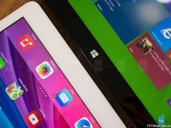 Hiệu năng Microsoft Surface 3 và iPad Air 2