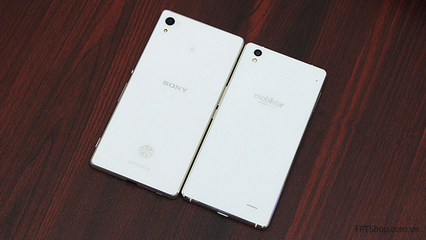 Thiết kế Mobiistar Prime Xense và Sony Xperia Z3 Plus