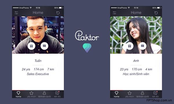 Sử dụng Ứng dụng kết bạn Paktor giúp cuộc sống thêm hương vị, màu sắc