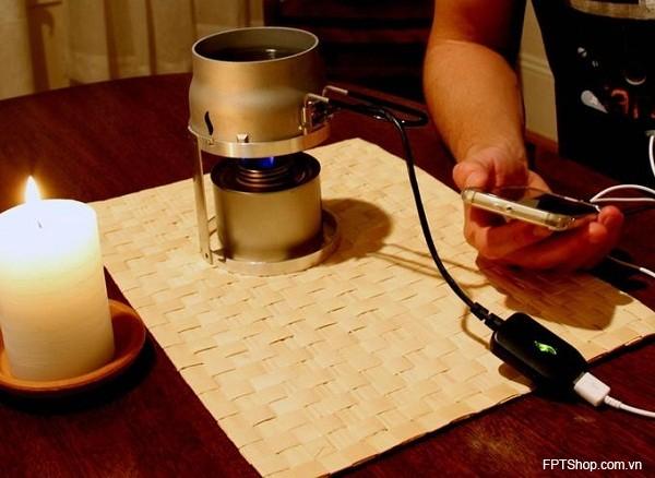 Công nghệ sạc điện thoại bằng lửa - Candle Charger