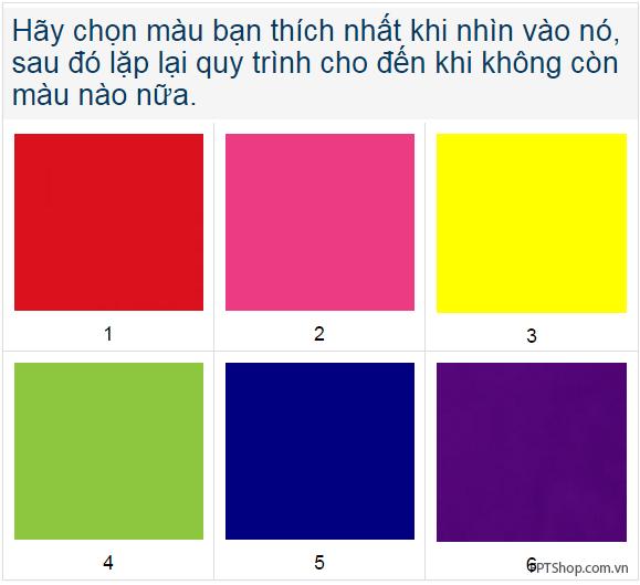 Ứng dụng lựa chọn màu sắc nói gì về bạn