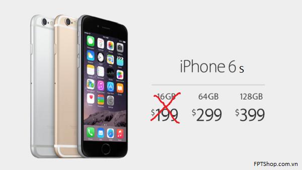 Khai tử phiên bản 16 GB trên iPhone 6S và 6S Plus