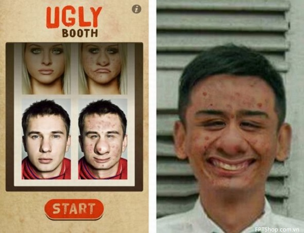 Ứng dụng Uglybooth
