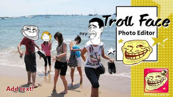 Ứng dụng Trollface Photo Editor Pro